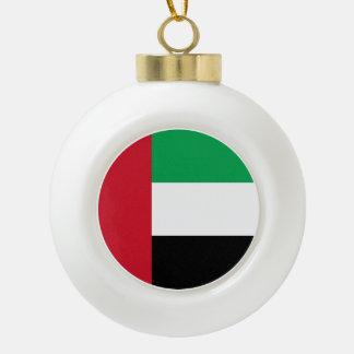 United Arab Emirates Flag Ceramic Ball Christmas Ornament