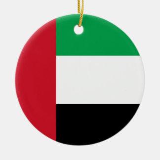 United Arab Emirates Flag Ceramic Ornament