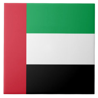 United Arab Emirates Flag Large Square Tile