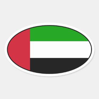 United Arab Emirates Flag Oval Sticker