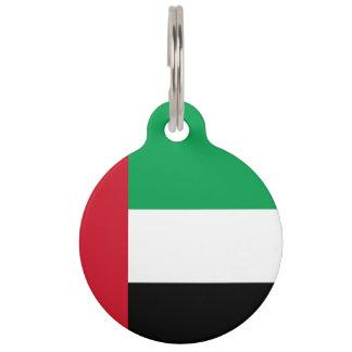 United Arab Emirates Flag Pet Name Tag