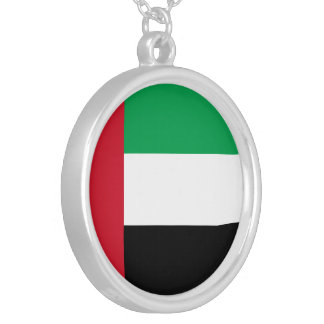 United Arab Emirates Flag Silver Plated Necklace