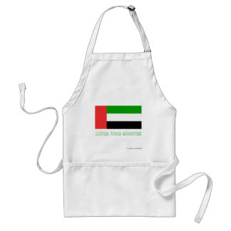 United Arab Emirates Flag with Name Aprons