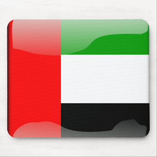 United Arab Emirates glossy flag Mouse Pad
