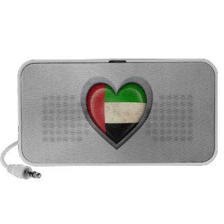 United Arab Emirates Heart Flag Stainless Steel Ef PC Speakers