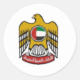 United Arab Emirates National Emblem Classic Round Sticker
