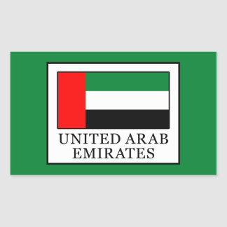 United Arab Emirates Rectangular Sticker