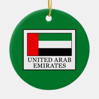 United Arab Emirates Round Ceramic Decoration