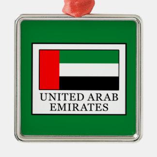 United Arab Emirates Silver-Colored Square Decoration