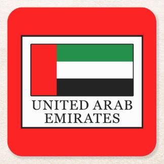 United Arab Emirates Square Paper Coaster