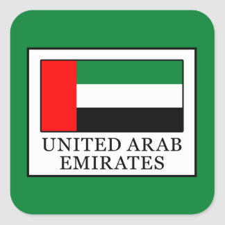 United Arab Emirates Square Sticker