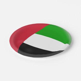 United Arab Emirates UAE Flag Paper Plate