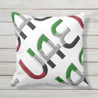United Arab Emirates UAE Flag Typography Souvenir Cushion