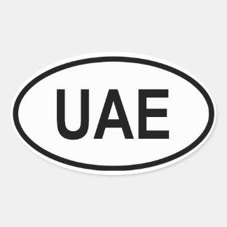 """United Arab Emirates """"UAE"""" Oval Sticker"""