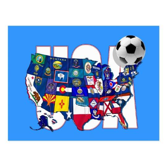 United behind the USA soccer team Postcard