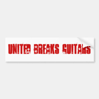 United Breaks Guitars Bumper Sticker