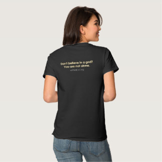 """United Cor """"You are not alone"""" ladies dark tee"""