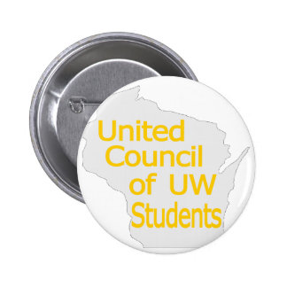 United Council New Logo Gold on Grey Pinback Buttons