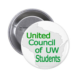United Council New Logo Green on Grey Pin