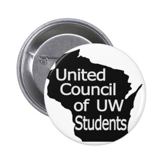 United Council New Logo Grey on Black Button