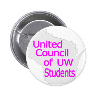 United Council New Logo Magenta on Grey Buttons