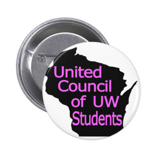 United Council New Logo Pink on Black Button