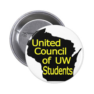 United Council New Logo Yellow on Black Button