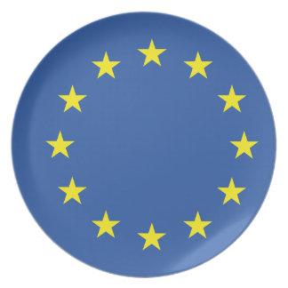 United Europe Flag Plates
