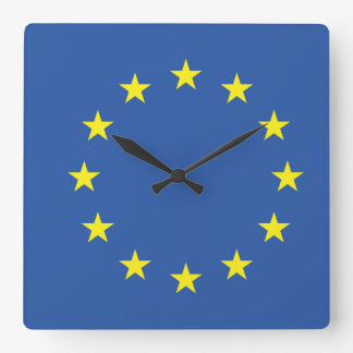 United Europe Flag Square Wall Clock