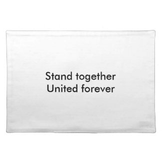 United forever place mat