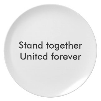United forever party plate