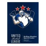United Gridiron Football League Poster Postcards