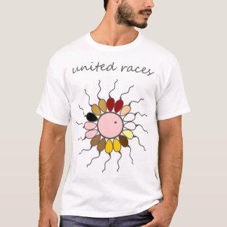 United human races_GMO_funny genetics T-Shirt