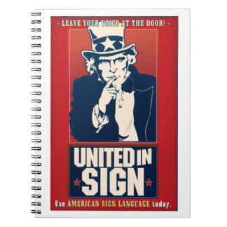 United in Sign (ASL) notebook