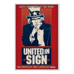 United in Sign (ASL) Posters