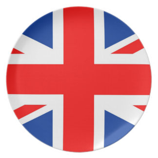 united kindom great britain country flag plate
