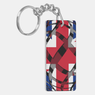 United Kingdom #1 Double-Sided Rectangular Acrylic Key Ring