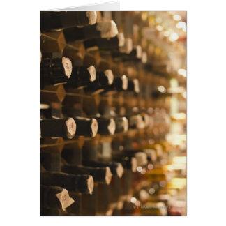 United Kingdom, Bristol, old wine bottles on Card