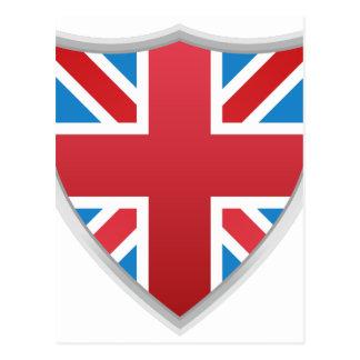 United Kingdom British Flag Shield Postcard