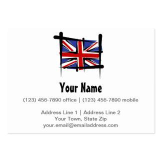 United Kingdom Brush Flag Large Business Cards (Pack Of 100)