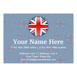 United Kingdom Bubble Flag Business Card Templates
