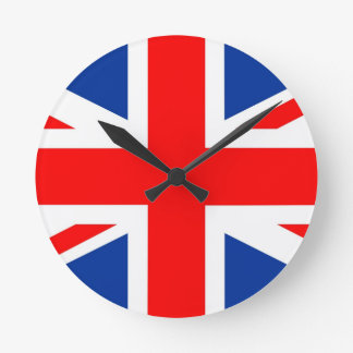 united kingdom country flag great britain uk wall clock