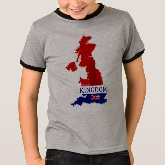 United Kingdom Designer Name-Brand Map T-Shirt