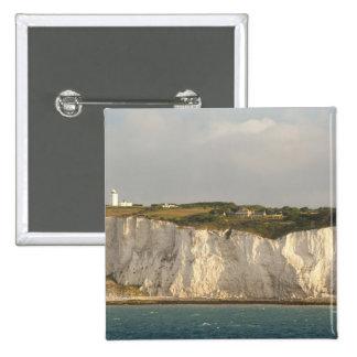 United Kingdom, Dover. The famous white cliffs 15 Cm Square Badge
