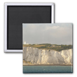 United Kingdom, Dover. The famous white cliffs Square Magnet