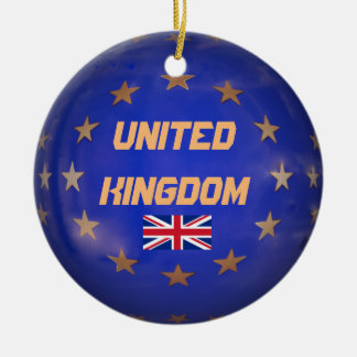 United Kingdom E.U. Custom Christmas Ornament
