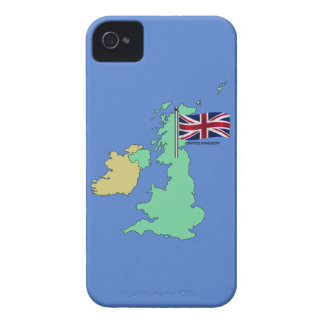 United Kingdom Flag and Map iPhone 4 Case-Mate Cases
