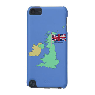 United Kingdom Flag and Map iPod Touch 5G Case