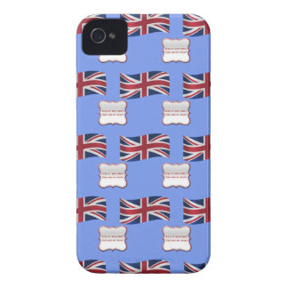 United Kingdom Flag and Motto iPhone 4 Cases