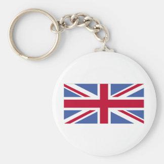 UNITED KINGDOM FLAG BASIC ROUND BUTTON KEY RING